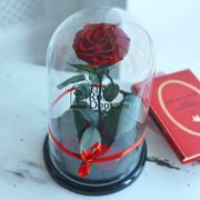 бордовая роза в колбе кинг