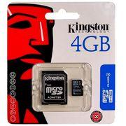 Карта памяти SDHC Kingston SD10V/ 10 class 4GB